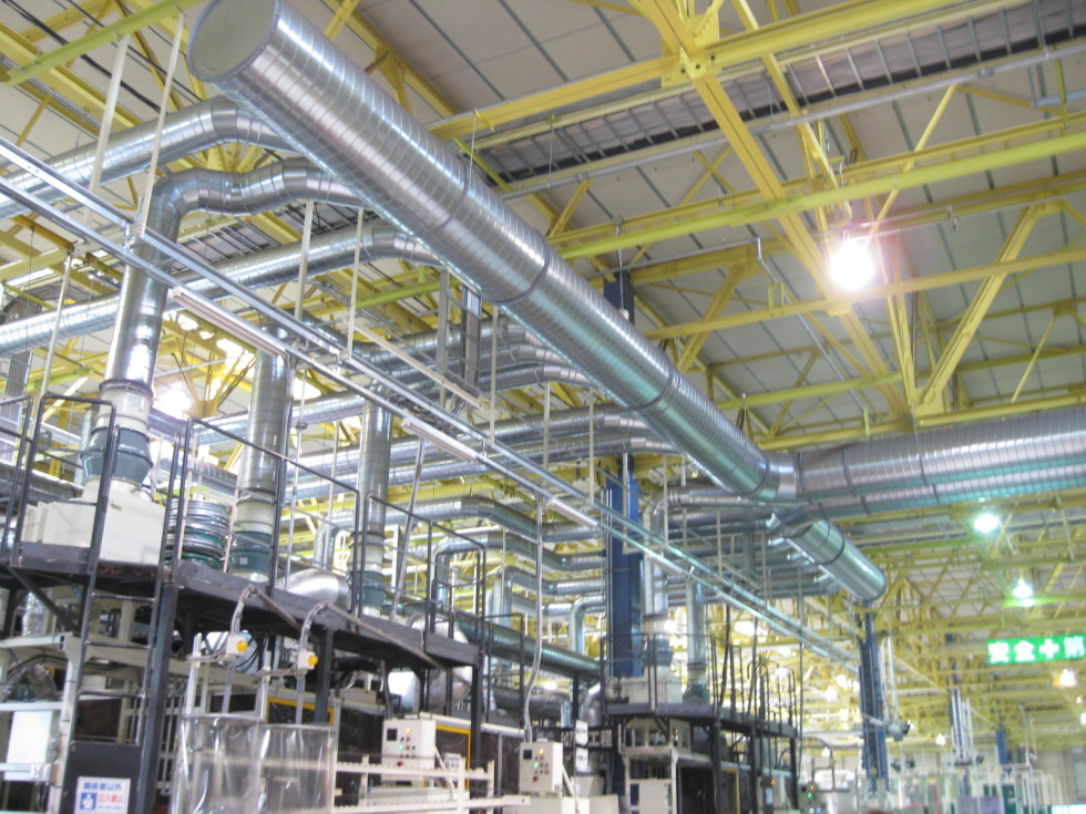 工場内給・排気ダクト設備