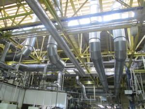 工場内 給・排気ダクト設備